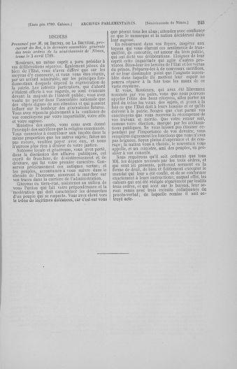 Tome 4 : 1789 – États généraux. Cahiers des sénéchaussées et baillages [Mirecourt - Paris (hors les murs)] - page 245