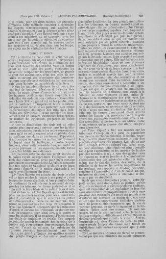 Tome 4 : 1789 – États généraux. Cahiers des sénéchaussées et baillages [Mirecourt - Paris (hors les murs)] - page 251