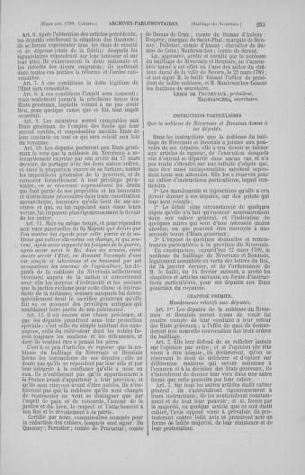 Tome 4 : 1789 – États généraux. Cahiers des sénéchaussées et baillages [Mirecourt - Paris (hors les murs)] - page 253