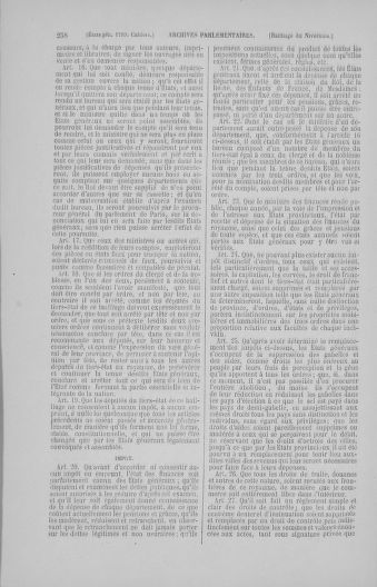 Tome 4 : 1789 – États généraux. Cahiers des sénéchaussées et baillages [Mirecourt - Paris (hors les murs)] - page 258