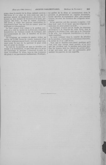 Tome 4 : 1789 – États généraux. Cahiers des sénéchaussées et baillages [Mirecourt - Paris (hors les murs)] - page 265