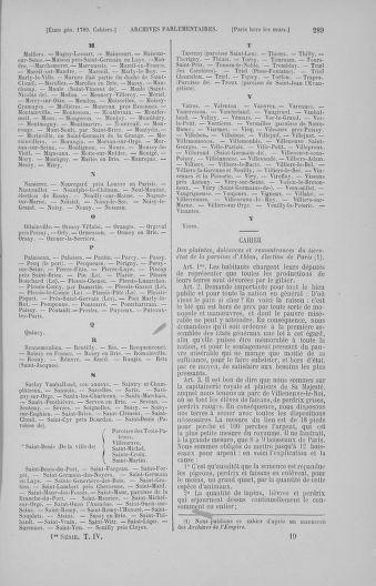 Tome 4 : 1789 – États généraux. Cahiers des sénéchaussées et baillages [Mirecourt - Paris (hors les murs)] - page 289