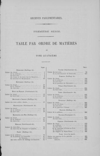 Tome 4 : 1789 – États généraux. Cahiers des sénéchaussées et baillages [Mirecourt - Paris (hors les murs)] - page 787