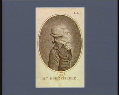 M.en Robespierre [estampe]