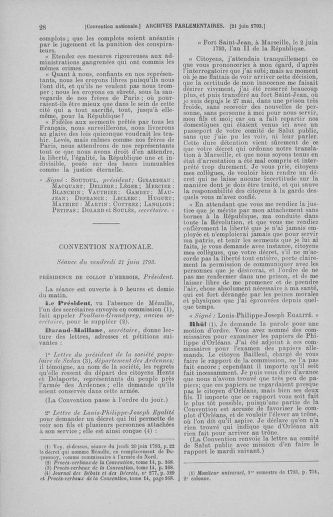 Tome 67 : Du 20 au 30 juin 1793 - page 28