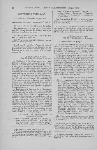 Tome 67 : Du 20 au 30 juin 1793 - page 88