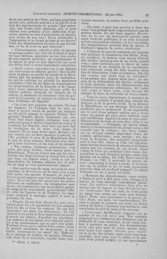 Tome 67 : Du 20 au 30 juin 1793 - page 97