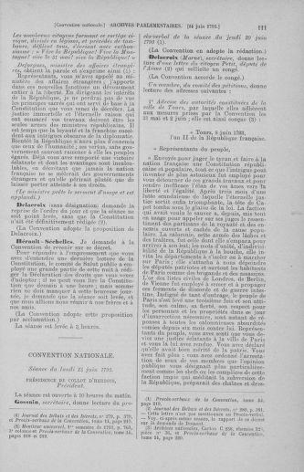 Tome 67 : Du 20 au 30 juin 1793 - page 111
