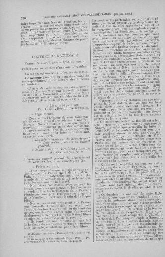 Tome 67 : Du 20 au 30 juin 1793 - page 420