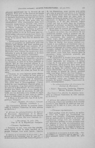 Tome 67 : Du 20 au 30 juin 1793 - page 421