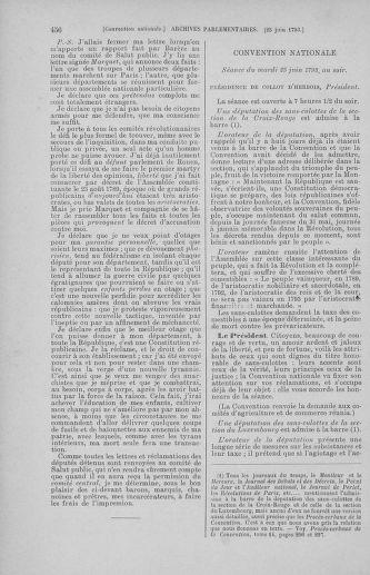 Tome 67 : Du 20 au 30 juin 1793 - page 456