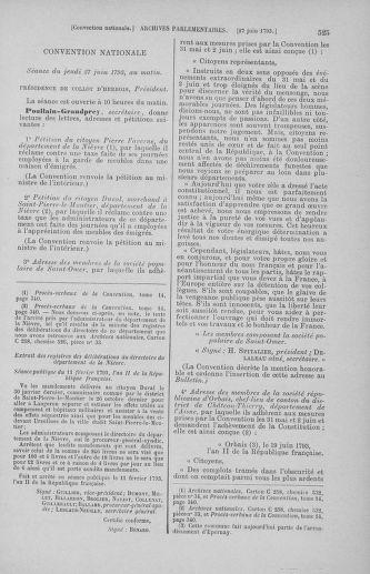 Tome 67 : Du 20 au 30 juin 1793 - page 525