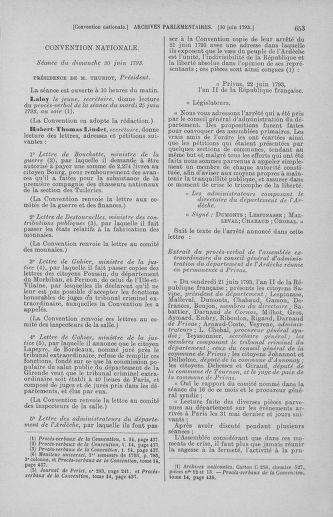 Tome 67 : Du 20 au 30 juin 1793 - page 653