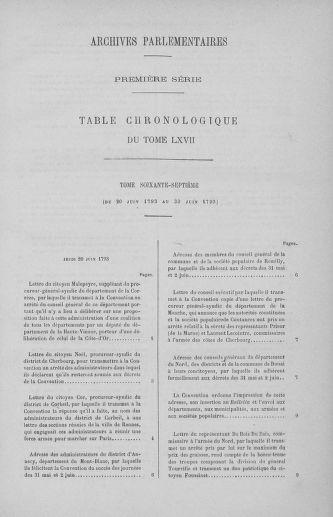 Tome 67 : Du 20 au 30 juin 1793 - page ..