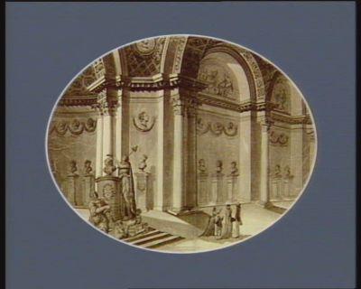 Gallerie des celébres patriotes dediée à la nation les autres patriotes, decorant l'autre partie de la gallerie, sont M. M. Gouvion, Bailly, Fermont, Bouche, Goutte, le Pelletier, l'évêque d'Autun, du Bois de Grancé, de Noailles, Freteau, du Port... : [estampe]