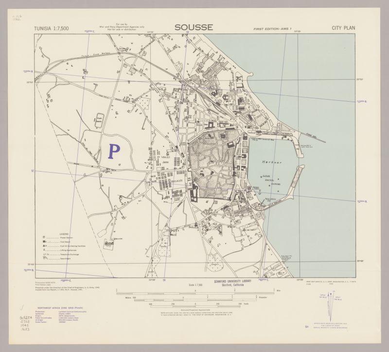 Sousse; city plan