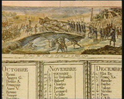 Deffense du pont de <em>Varenes</em> le 21 juin <em>1791</em> [estampe]