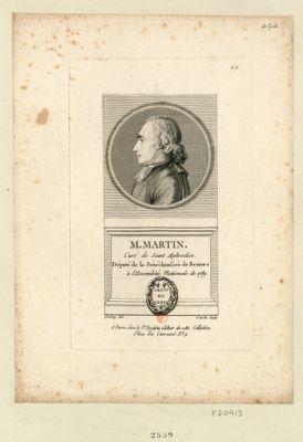 M. Martin curé de Saint Aphrodise. Député de la sénéchaussée du Beziers à l'Assemblée nationale de 1789 : [estampe]