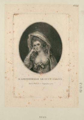 Mademoiselle Le Guet d'Oliva née à Paris le 1.<em>e</em> septembre 1761 : [estampe]