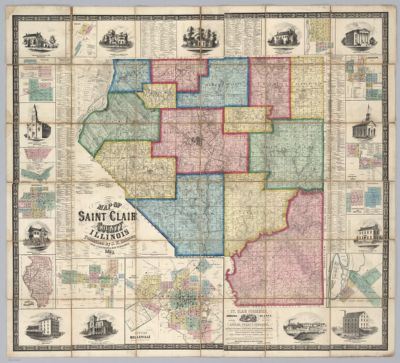Map Of White County With Carmi Illinois Cartographic Material In