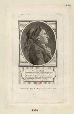 C[itoy]en Risbey natif de Paris, agé de 33 ans ; commissaire du 10 aout 1792, concierge porte clef de la Tour du Temple : [estampe]