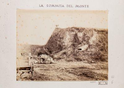 Mura Serviane presso la stazione ferroviaria. Monte della Giustizia