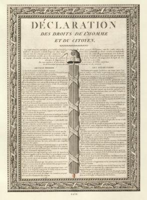 Déclaration des droits de l'homme et du citoyen [estampe]