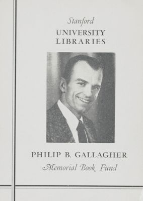 Philip B. Gallagher Memorial Book Fund