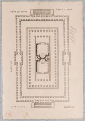 Tempio di Venere e Roma, pianta