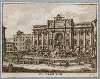 Fontana di Trevi, prospetto
