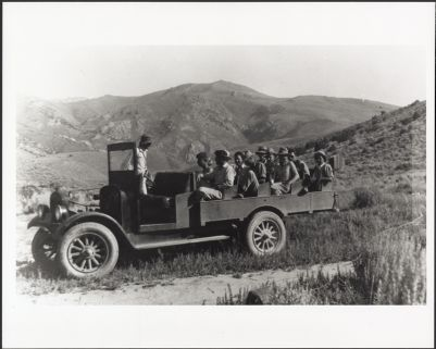 Ward Smith and students at the north end of the Humboldt Range, Nevada