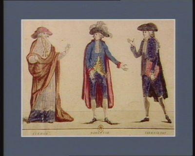 Costume de cérémonie de Messieurs les députés des Trois Ordres aux Etats généraux Clergé Noblesse Tiers Etat : [estampe]