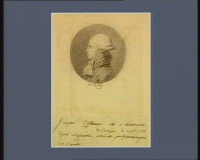 Jacques Defermon né à Maumusson en Bretagne le 11 9.bre 1752 député à l'Assemblée nationale pour la sénéchaussée de Rennes : [dessin]