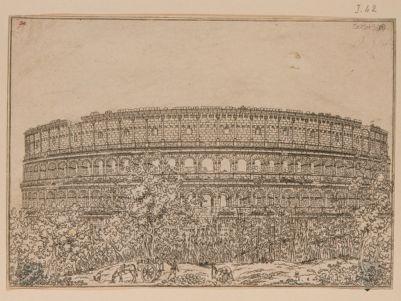 Colosseo, interno. Veduta generale del lato