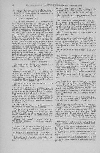 Tome 70 : Du 30 juillet au 9 août 1793 - page 38