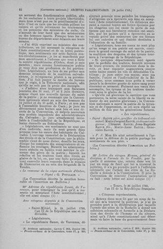 Tome 70 : Du 30 juillet au 9 août 1793 - page 44