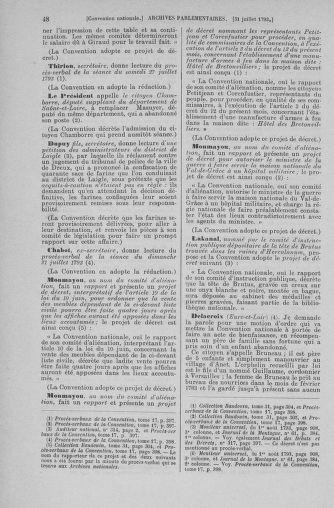 Tome 70 : Du 30 juillet au 9 août 1793 - page 48