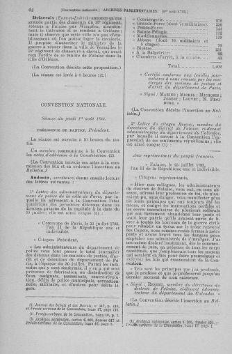 Tome 70 : Du 30 juillet au 9 août 1793 - page 62