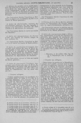Tome 70 : Du 30 juillet au 9 août 1793 - page 63
