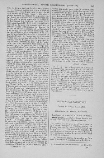 Tome 70 : Du 30 juillet au 9 août 1793 - page 145
