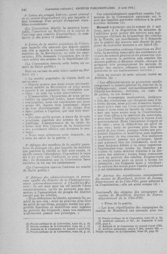 Tome 70 : Du 30 juillet au 9 août 1793 - page 146
