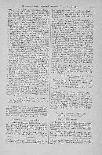 Tome 70 : Du 30 juillet au 9 août 1793 - page 147