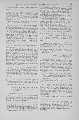 Tome 70 : Du 30 juillet au 9 août 1793 - page 151