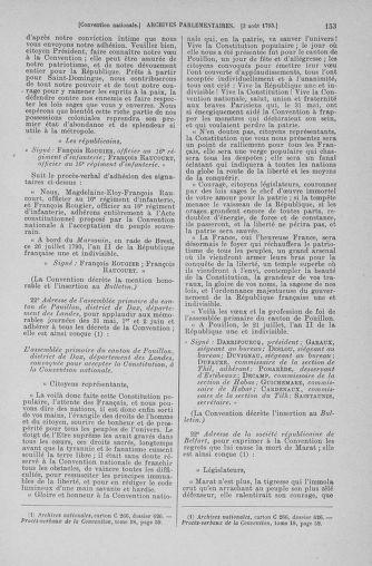 Tome 70 : Du 30 juillet au 9 août 1793 - page 153