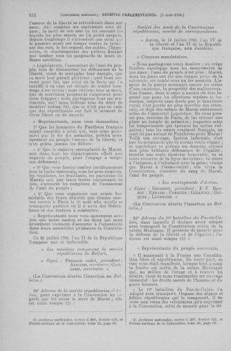 Tome 70 : Du 30 juillet au 9 août 1793 - page 154