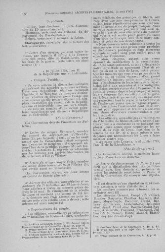 Tome 70 : Du 30 juillet au 9 août 1793 - page 180