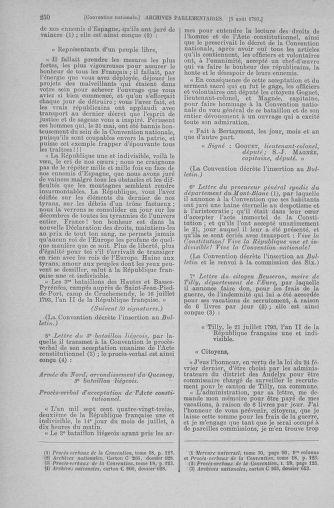 Tome 70 : Du 30 juillet au 9 août 1793 - page 250