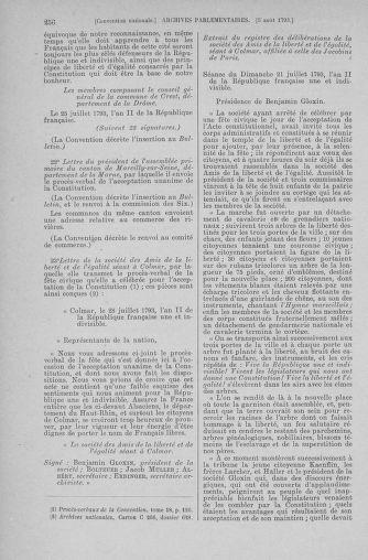 Tome 70 : Du 30 juillet au 9 août 1793 - page 256