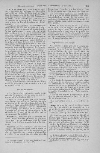 Tome 70 : Du 30 juillet au 9 août 1793 - page 285
