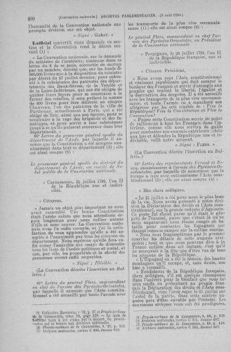Tome 70 : Du 30 juillet au 9 août 1793 - page 290